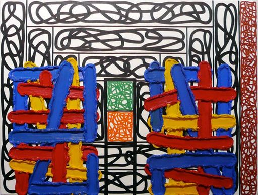 Jonathan LASKER - Pintura - Expression as object