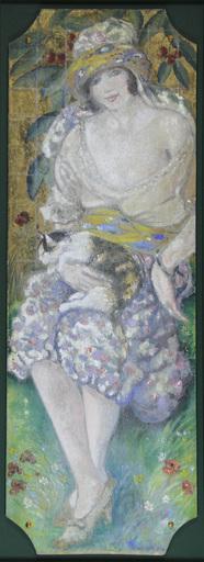 Georges MANZANA-PISSARRO - Pittura - L'orientale au chat