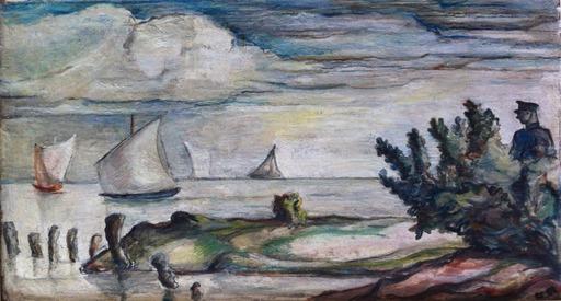 Charles ROELOFSZ - Painting - Zeilschepen op een plas