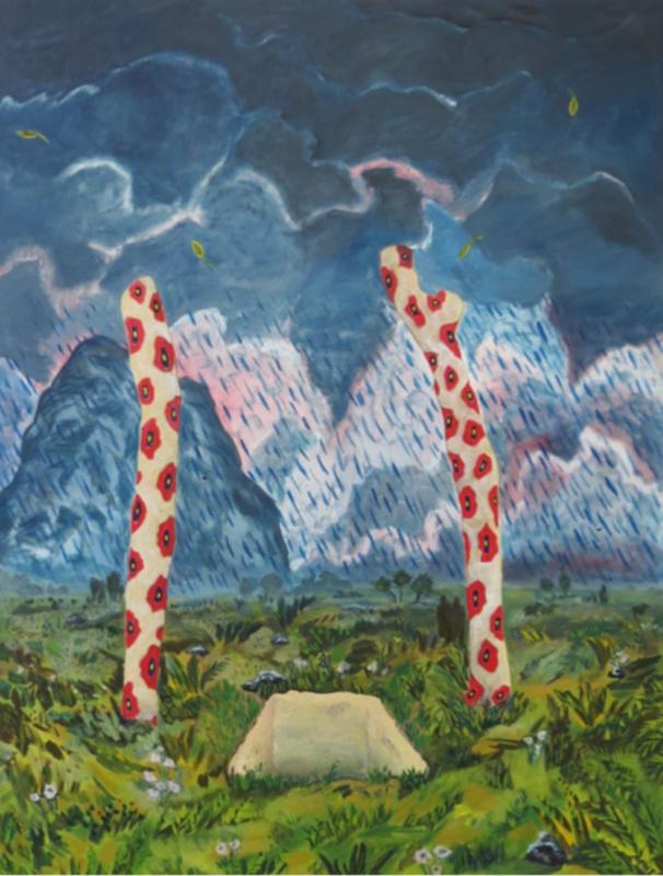 Martin FAURE - Painting - «Jamais parti d'ailleurs»