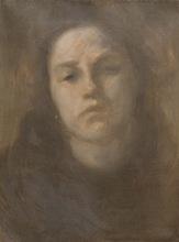 Eugène Anatole CARRIERE - Peinture - Portrait de femme
