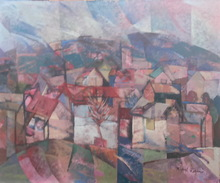 Rafael UBEDA PIÑEIRO - Painting - paisaje rosa