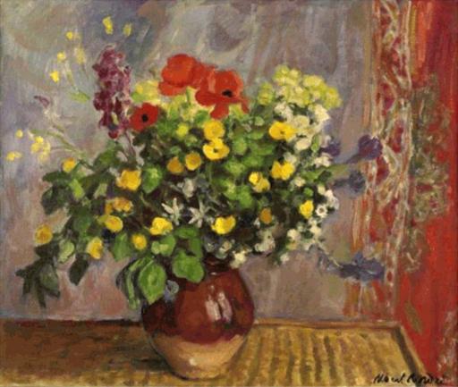Albert ANDRÉ - Peinture - Vase de fleurs