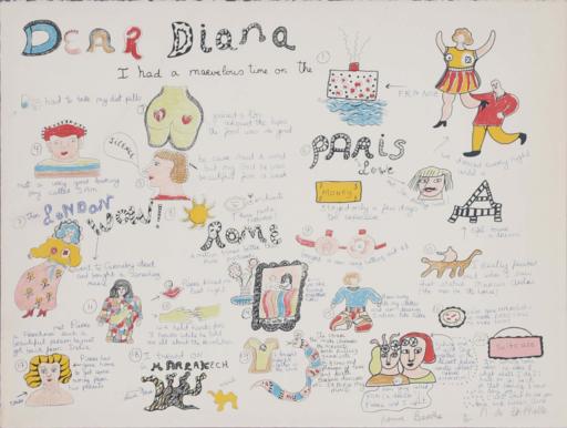 Niki DE SAINT-PHALLE - Estampe-Multiple - Dear Diana I had a marvelous time