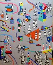 Michel YAKO - Painting - Lignes de vie