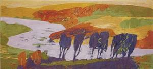 Jenne MAGAFAN - Pittura - The River