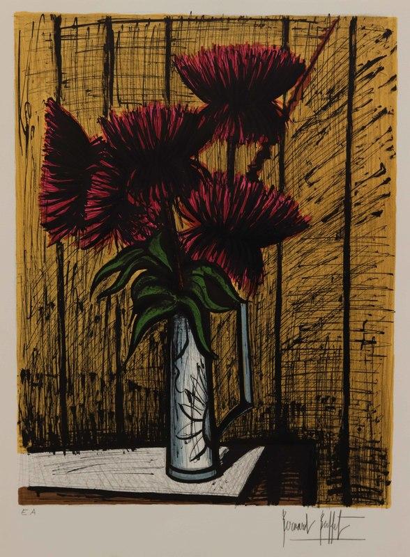 Bernard BUFFET - Print-Multiple - Chrysanthèmes