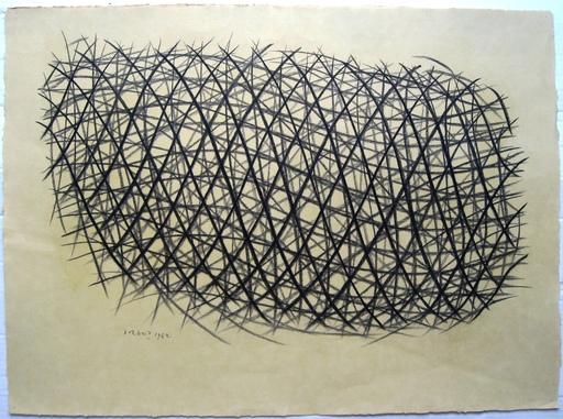 Piero DORAZIO - Zeichnung Aquarell - Senza titolo