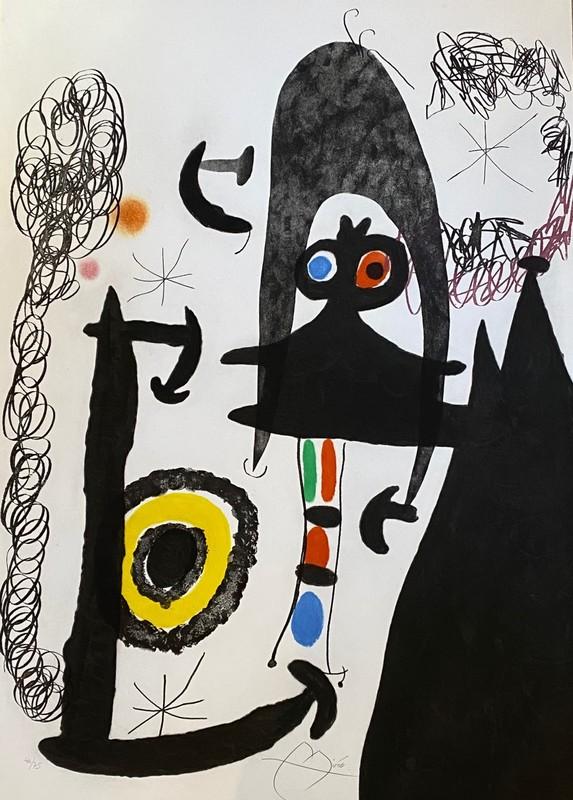Joan MIRO - Print-Multiple - Escalade vers la Lune
