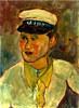 Abraham MINTCHINE - Zeichnung Aquarell - Ritratto di marinaio, 1928