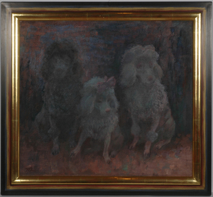 "Kurt MEYER-EBERHARDT - Pintura - Curt Meyer-Eberhardt (b. 1895) ""Three pudels"""