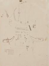 Jean-Michel BASQUIAT - Dibujo Acuarela - Untitled (Louis Armstrong)
