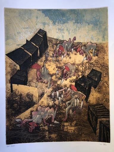 Roberto MATTA - Print-Multiple - Hom'mere Chaosmos plate VII