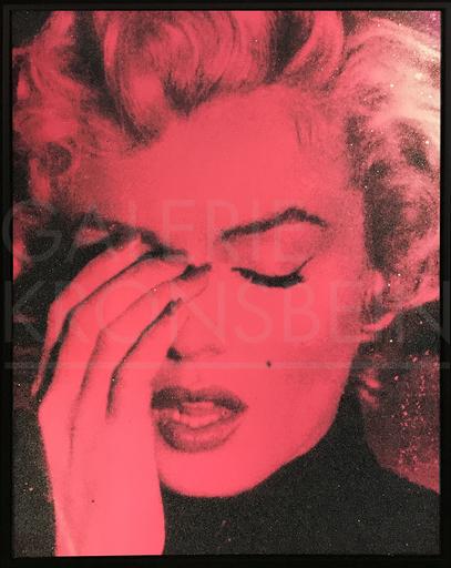 罗素·杨 - 绘画 - Marilyn Suicide (french rose + black)