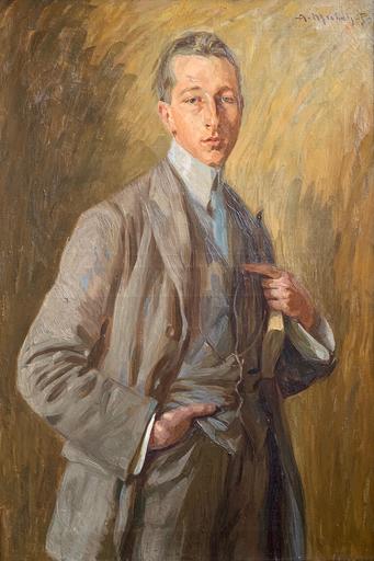Alberto Micheli PELLEGRINI - Gemälde - Ritratto