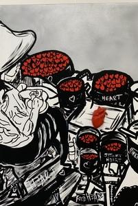 COBO - Painting - Vendeur de Coeur