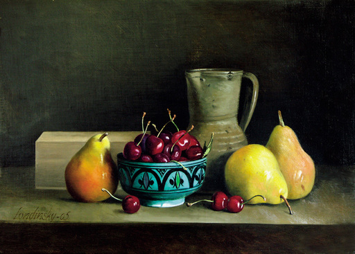 Bernard LONDINSKY - Pintura - Poires et cerises