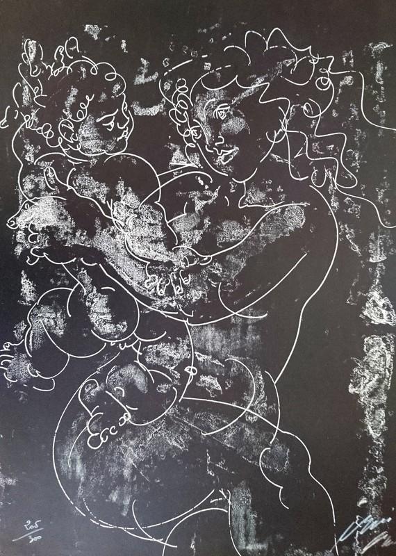 Hans ERNI - Stampa-Multiplo - Maternité
