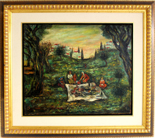 Moshé Elazar CASTEL - Pintura - Figures in the landscape