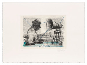 William KENTRIDGE, Cambio (from The Baedekers)