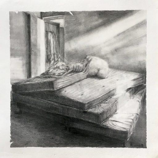Marie DONNEVE - Drawing-Watercolor - « Clair de lune »