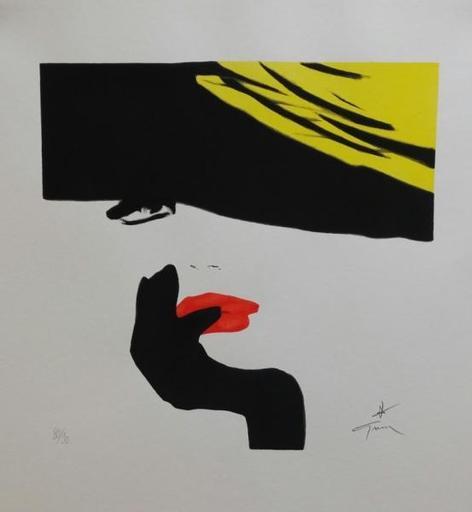 René GRUAU - Print-Multiple - Elégante au chapeau