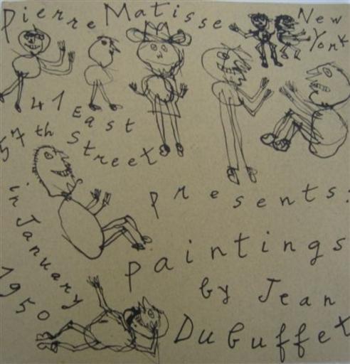 Jean DUBUFFET - Print-Multiple - NEW YORK 1950
