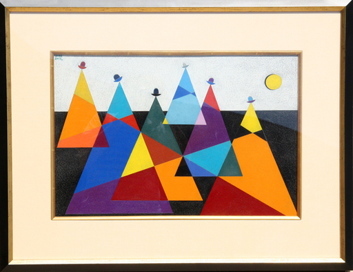 Omar RAYO - 绘画 - untitled (Mountains)