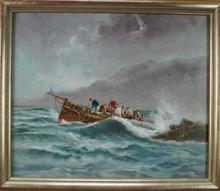 Luciano ARAEZ - Pintura - Embarcation dans la tempête