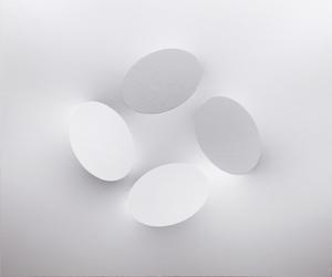 Turi SIMETI - Painting - 4 ovali bianchi
