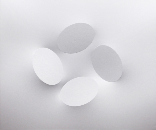 Turi SIMETI - Gemälde - 4 ovali bianchi