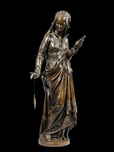 CARRIER-BELLEUSE - Skulptur Volumen - La Fileuse