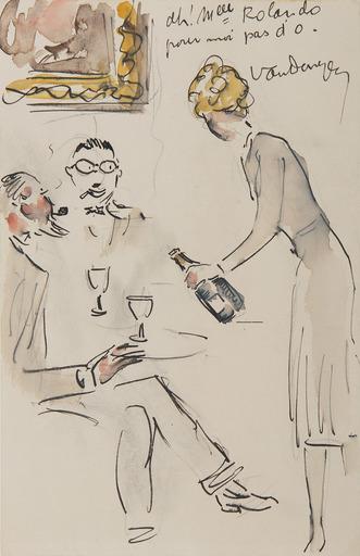 Kees VAN DONGEN - Drawing-Watercolor - Ah! Mlle Rolando, pour moi pas d'O