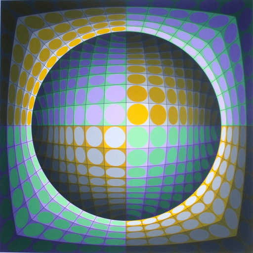 Victor VASARELY - Grabado - composition 5