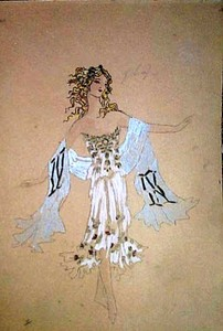 Konstantin A. KOROVIN, Day. Costume for A. Pavlova.