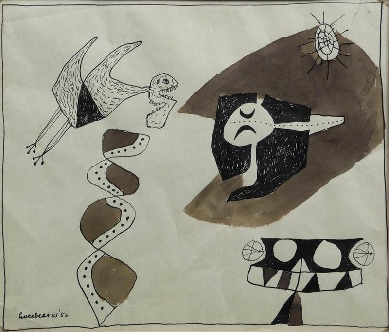 LUCEBERT - Drawing-Watercolor - Zonder titel 5
