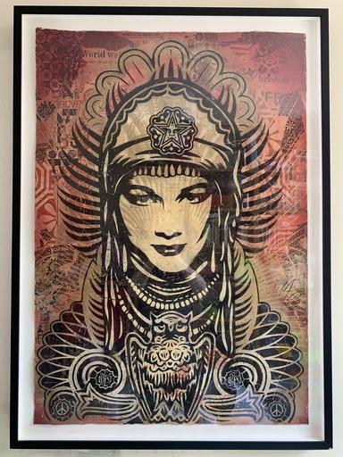 Shepard FAIREY - Dessin-Aquarelle - Peace Goddess