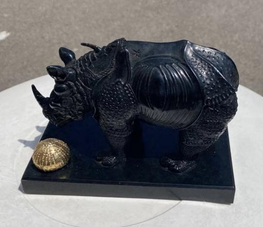 Salvador DALI - Sculpture-Volume - Rhinocéros habillé en dentelles