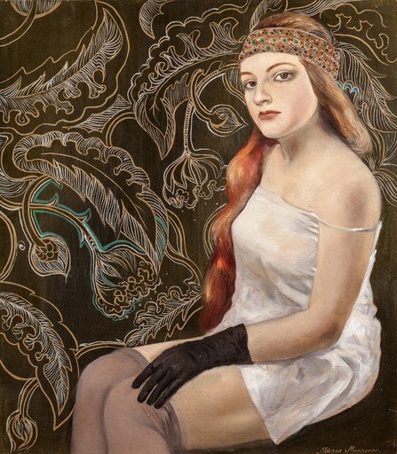 Bella MATVEEVA - Painting - Silver suspenders