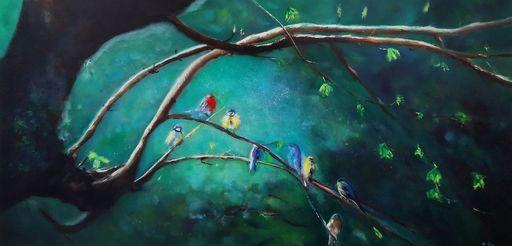 Muriel AVEROS - Painting - Papotages