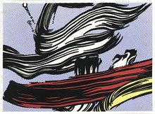 Roy LICHTENSTEIN - Print-Multiple - Brushstrokes