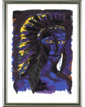 Rainer FETTING - Grabado - Indianer