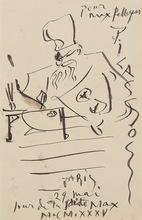 Pablo PICASSO - Drawing-Watercolor - Érudit Japonais