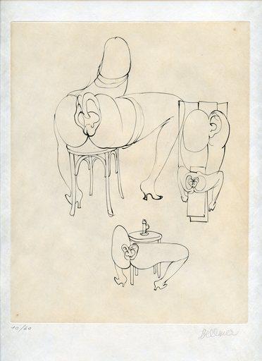 Hans BELLMER - Grabado - GRAVURE 1973 SIGNÉE AU CRAYON NUM/40 HANDSIGNED ETCHING