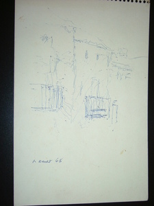 Rafael BENET - Drawing-Watercolor - apunte de paisaje