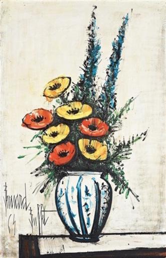 Bernard BUFFET - Painting - Bouquet de fleurs