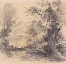 Georges MANZANA-PISSARRO - Dibujo Acuarela - La trouée sur le Chateau Gaillard