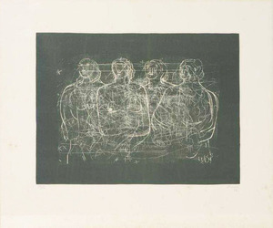 Henry MOORE - Grabado - Four Grey Ladies