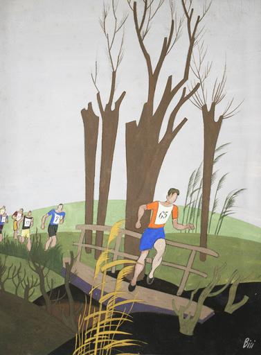 Carlo BISI - Pintura - Corsa campestre