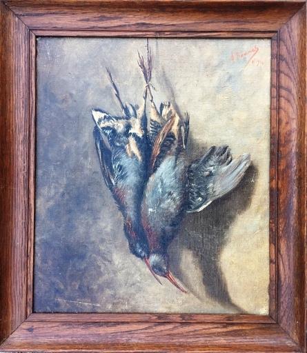 Amédée BAUMES - Painting - LES BECASSES